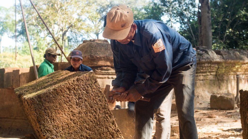 Restoration, Banteay Srei, Cambodia