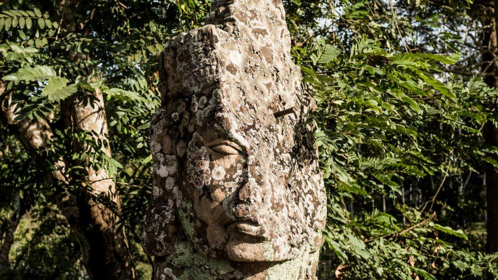 Hangover. Bridge to Victory Gate Angkor Thom, Cambodia